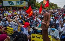 缅甸抗议者举行全国大罢工(VIP)