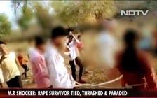 印度16岁少女称遭强奸,家人将她与嫌犯捆绑游街