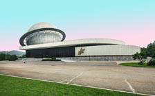 平壤的复古科幻建筑
