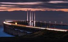 北欧丹麦和瑞典两国的跨海大桥